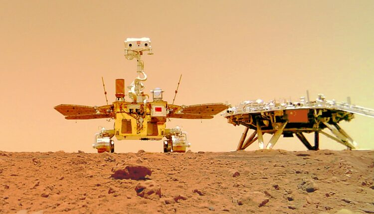 China's Mars rover sends 1st selfie