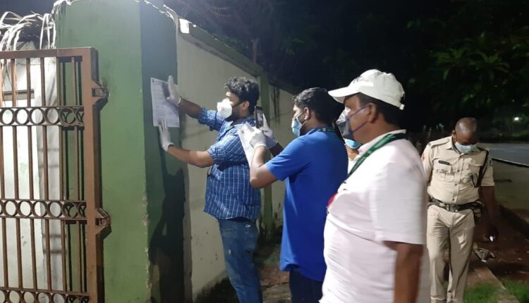 containment zone in Bhubaneswar