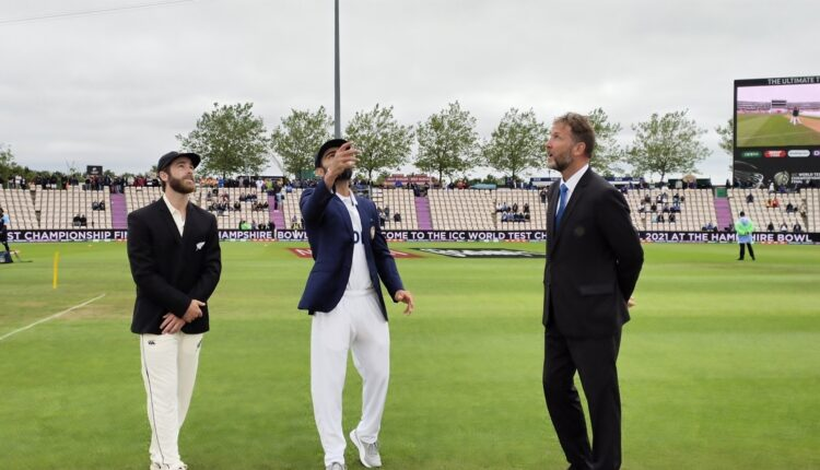 WTC final: New Zealand win toss, elect to bowl.(photo:BCCI Twitter)