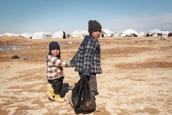 Al-Hol refugee camp in Syria (Credit: twitter.com/UNOCHA)