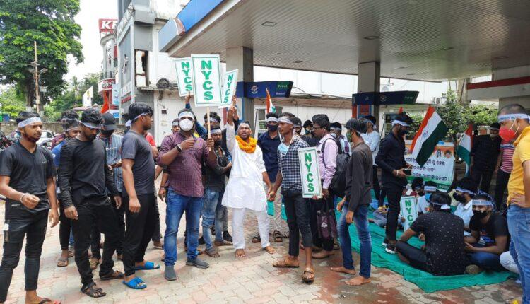 protest at petrol pumps