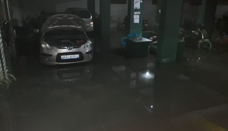 water in apartment basement