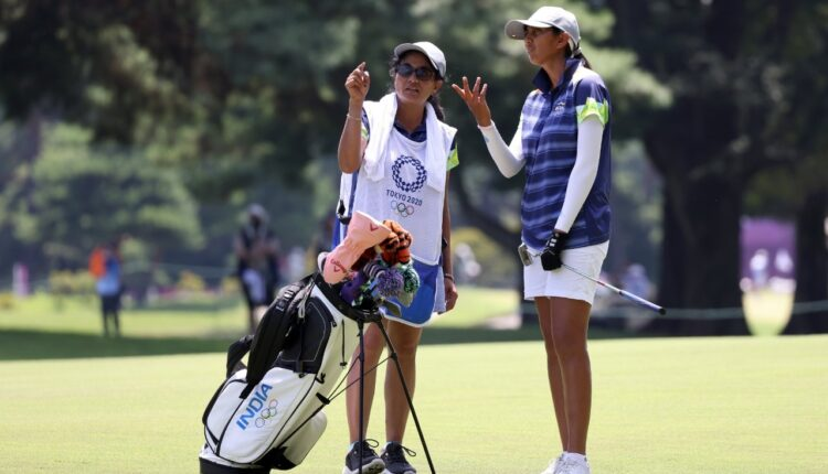 With mom as caddie, Aditi was in a different league altogether.