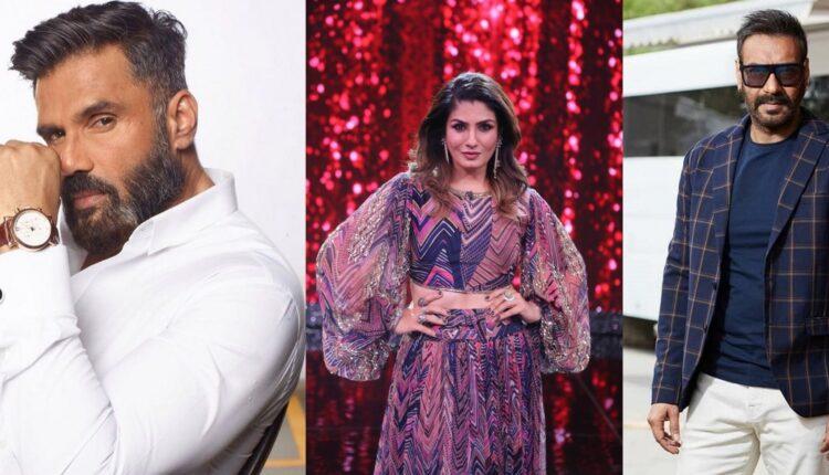 Raveena reveals why seeing Ajay Devgn, Suniel Shetty will make her laugh.