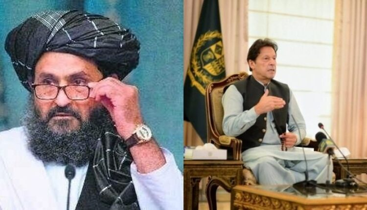 Imran khan and Abdul Ghani Baradar.
