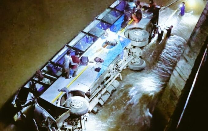 5 dead, 16 wounded as Meghalaya bus plunge into swollen river