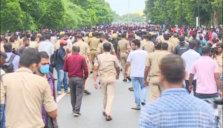 congress-police clash