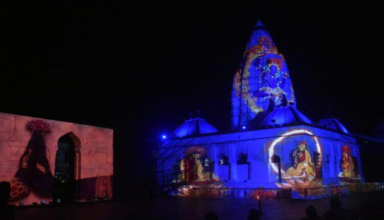 light and sound show at Samaleswari (2)