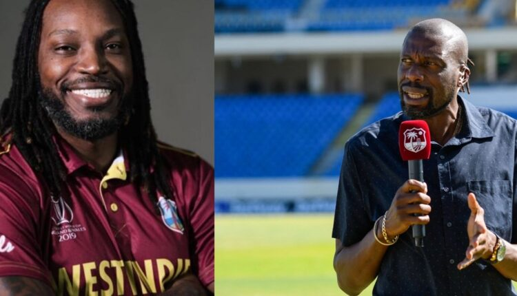Universe Boss' tells West Indies legend Ambrose to mind his business.