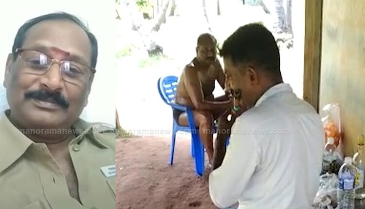 TN Policeman forced to play flute before Deputy Commissioner who was on oil massage.
