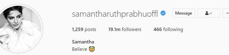 samantha instagarm pic